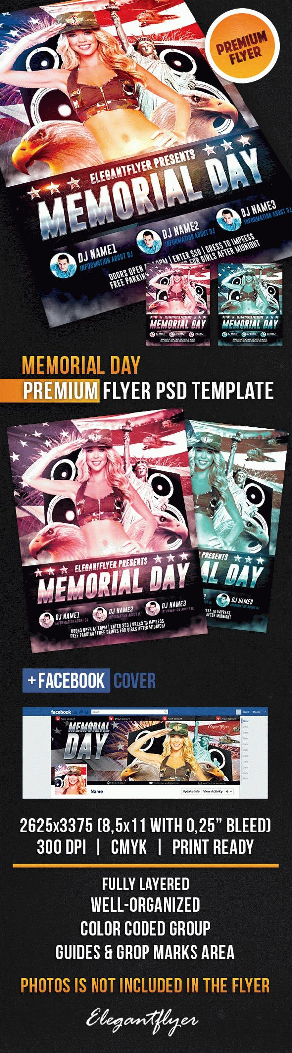 Happy Memorial Day PSD Template