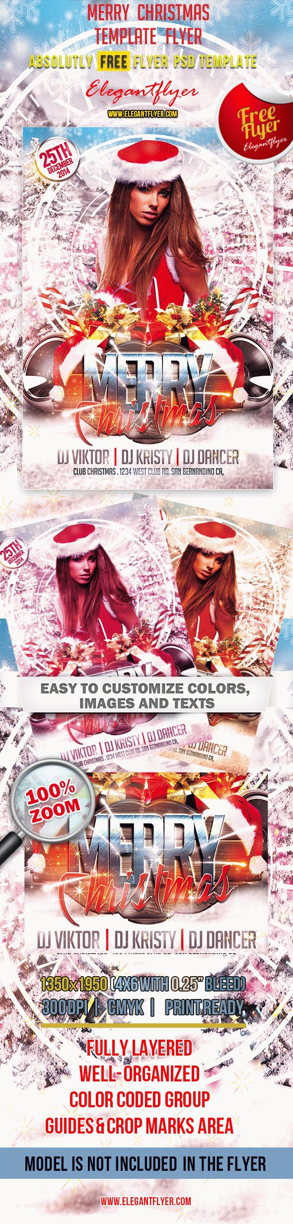merry christmas club and party flyer psd template by merry christmas club and party flyer psd template