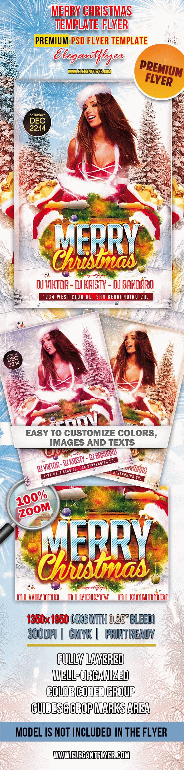 Merry Christmas – Premium Club flyer PSD Template