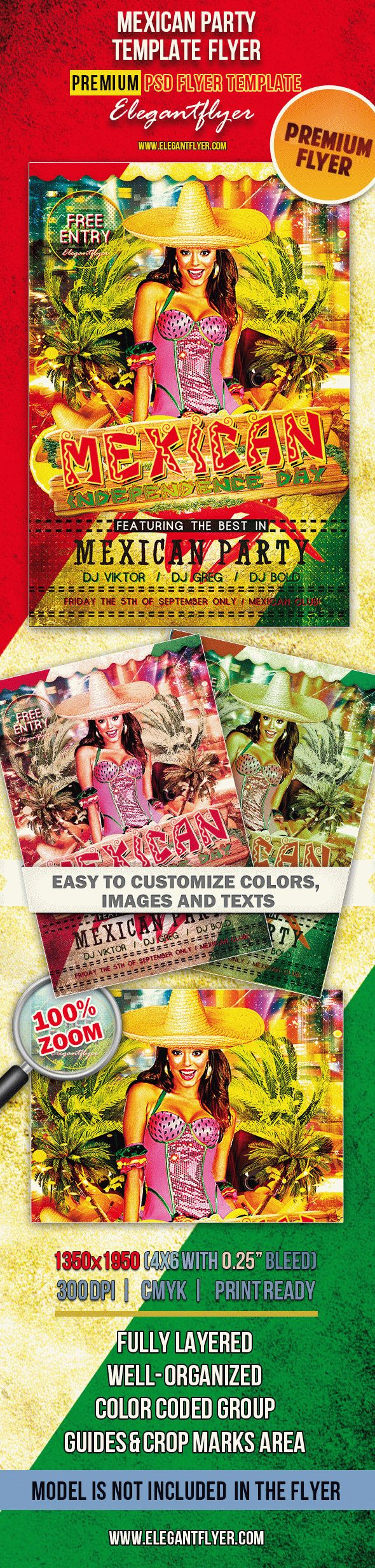 Mexican Party – Premium Club flyer PSD Template