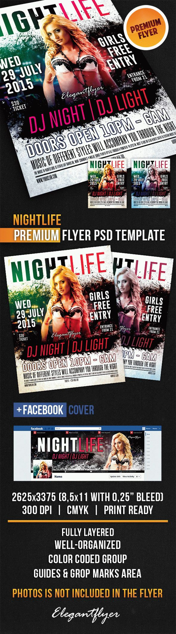 Nightlife – Flyer PSD Template