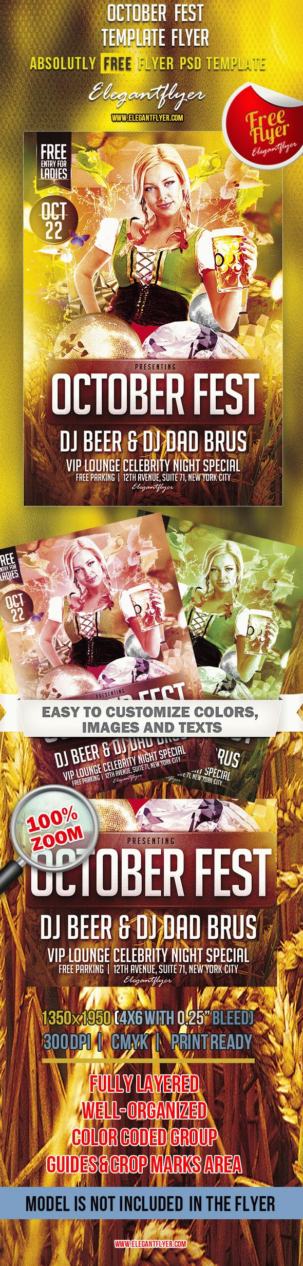 October Fest – Free Club and Party Flyer PSD Template