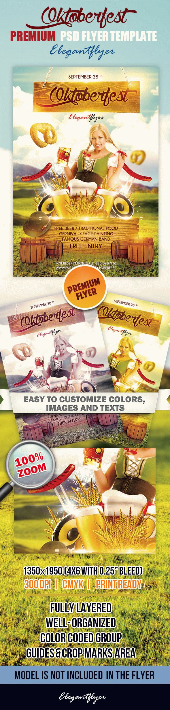 Oktoberfest – Premium Club flyer PSD Template