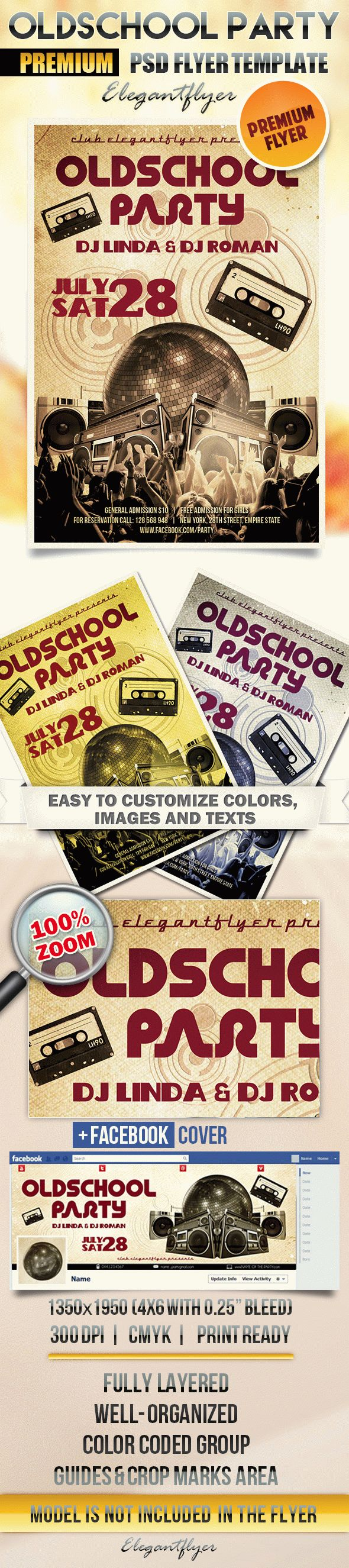 Oldschool party – Flyer PSD Template