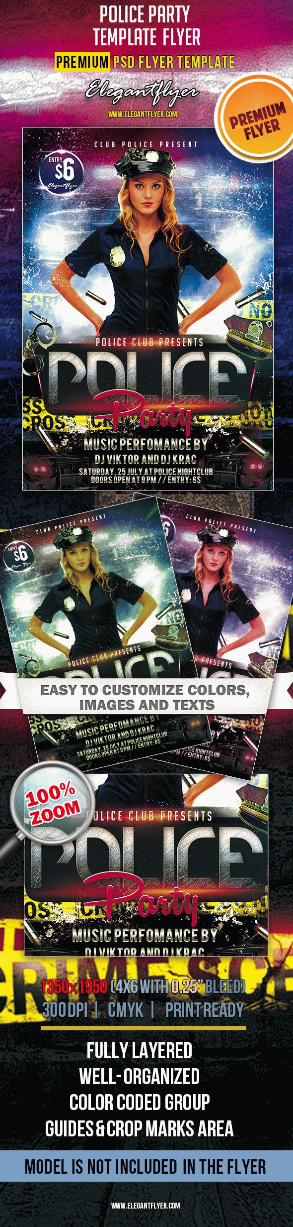 Police Party – Premium Club flyer PSD Template