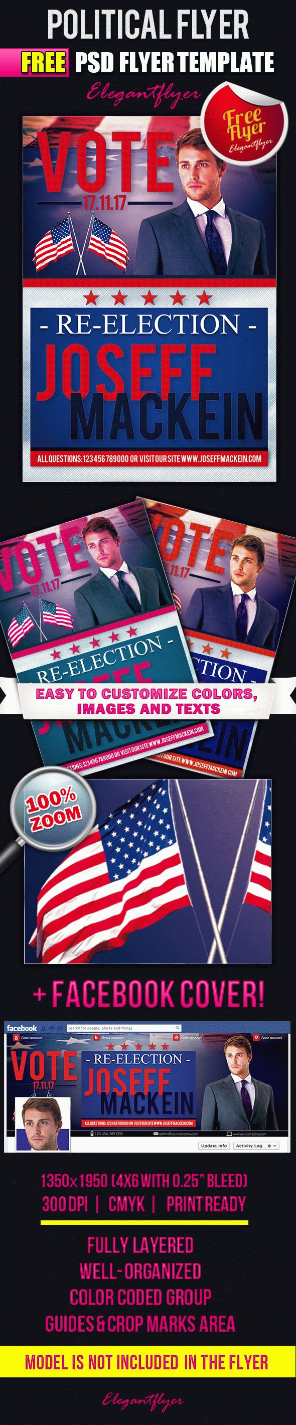Political Free Flyer PSD Template Facebook Cover by ElegantFlyer – Political Flyer Template