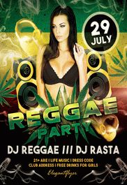Reggae Party – Free Flyer PSD Template