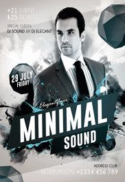 Minimal Sound Design V03 – Flyer PSD Template + Facebook Cover