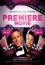 Premiere Movie – Flyer PSD Template