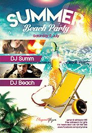 Summer Hit – Flyer PSD Template + Facebook Cover