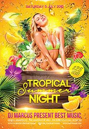 Hot Summer – Flyer PSD Template + Facebook Cover
