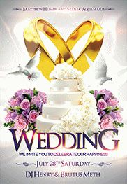 Wedding 2 – Flyer PSD Template