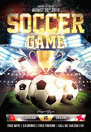Soccer Game Flyer Printable