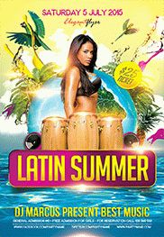 Summer Jam – Flyer PSD Template + Facebook Cover