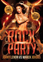 Flyer For Rock Party