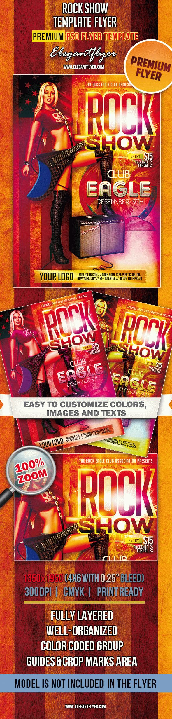 Rock Show – Premium Club flyer PSD Template