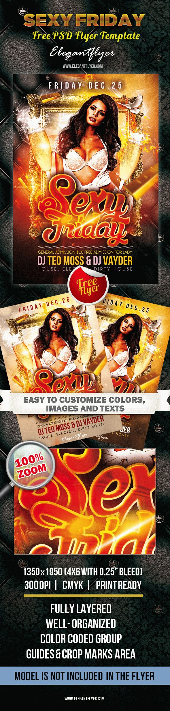Sexy Friday – Free Flyer PSD Template