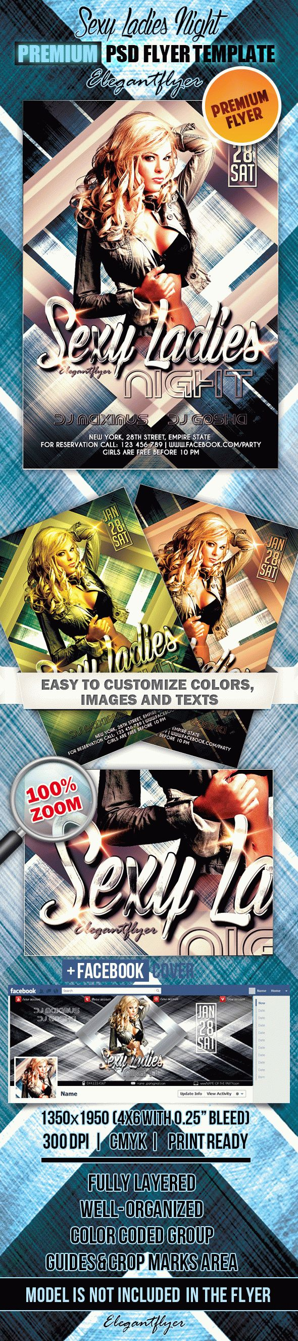 Sexy Ladies Night – Flyer PSD Template + Facebook Cover