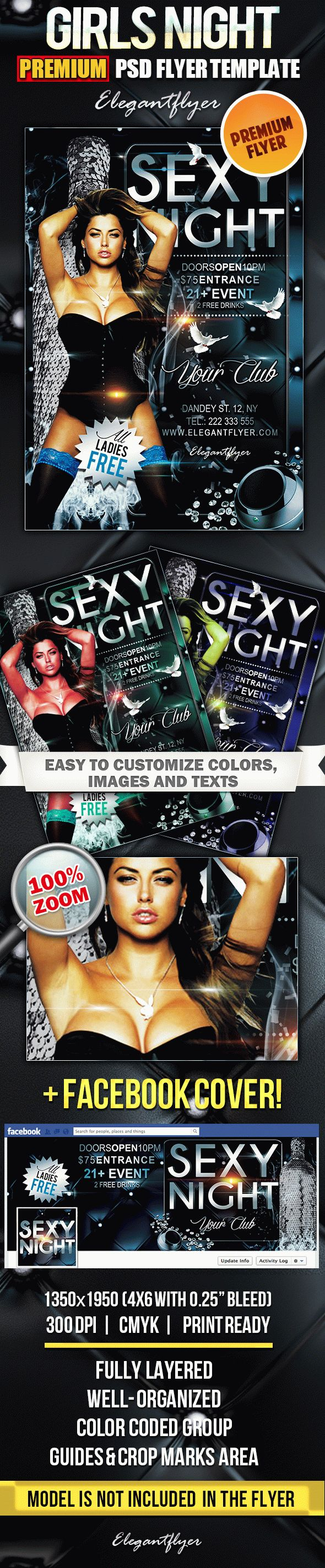 Sexy Night – PSD Flyer Templates
