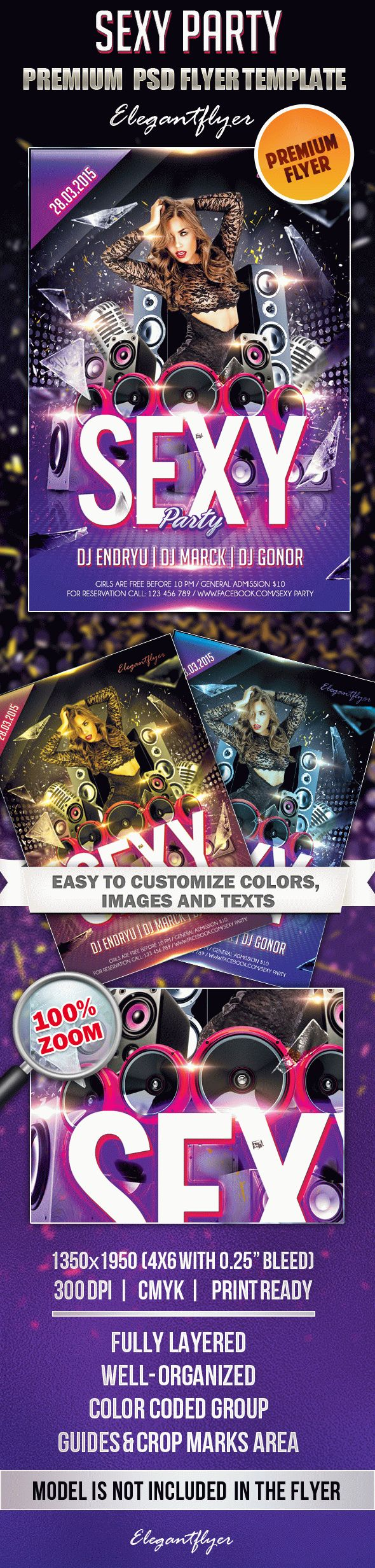 Sexy Party 2 – Premium Club flyer PSD Template