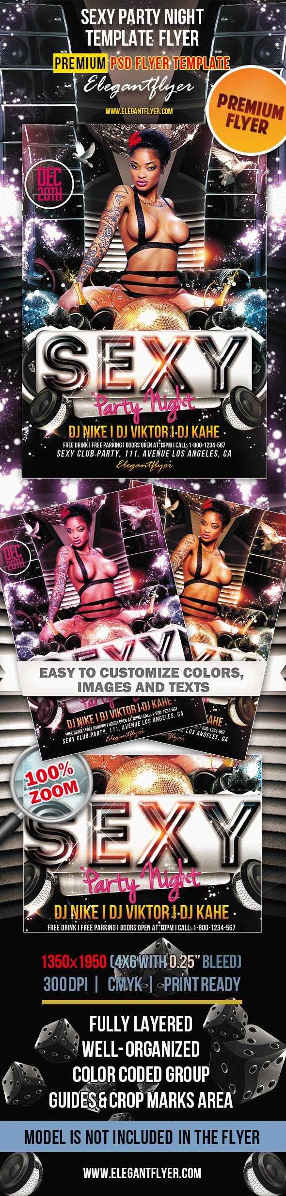 Sexy Party Night – Premium Club flyer PSD Template