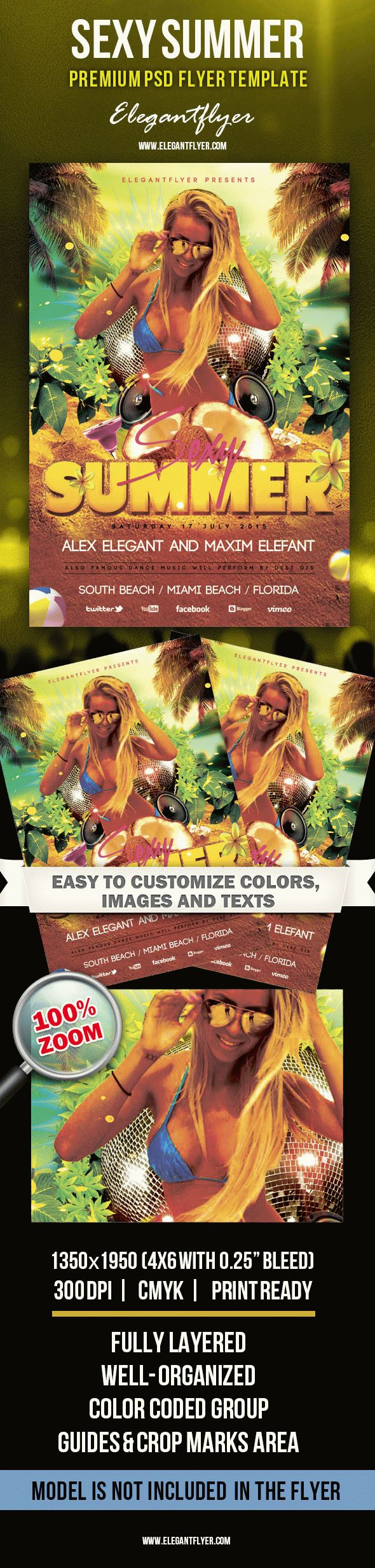 Sexy Summer – Premium Club flyer PSD Template