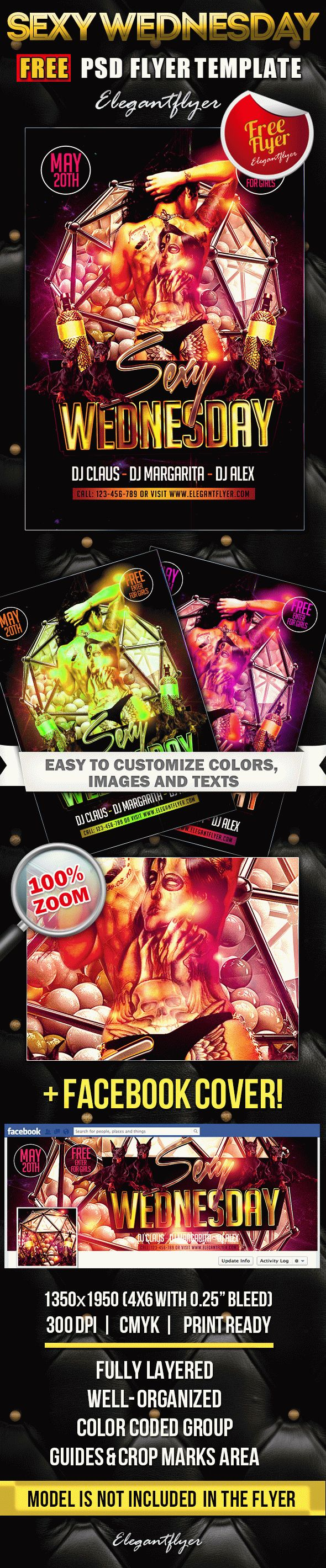 Sexy Wednesday – Free Flyer PSD Template