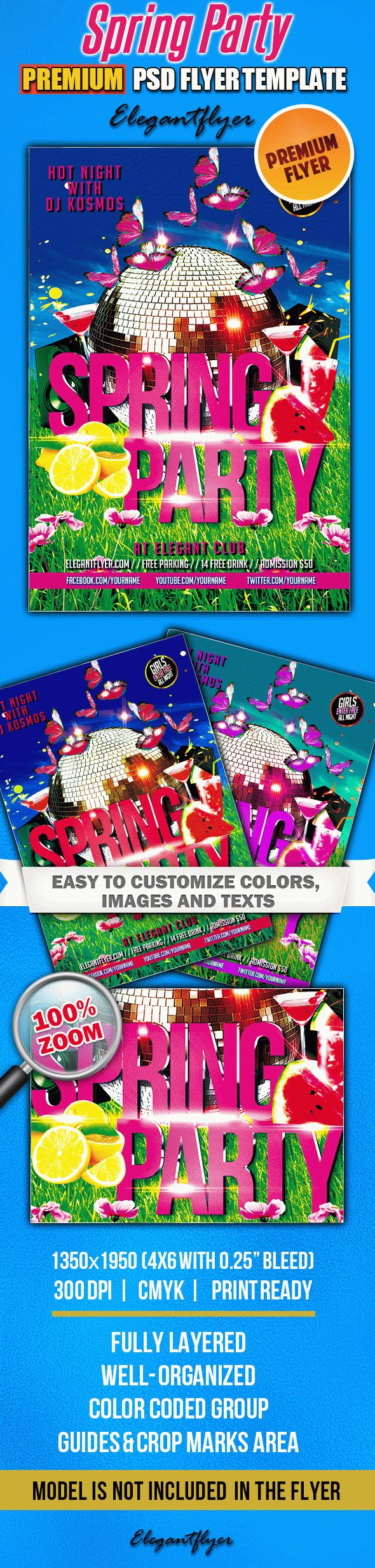 Club Flyer Spring Party