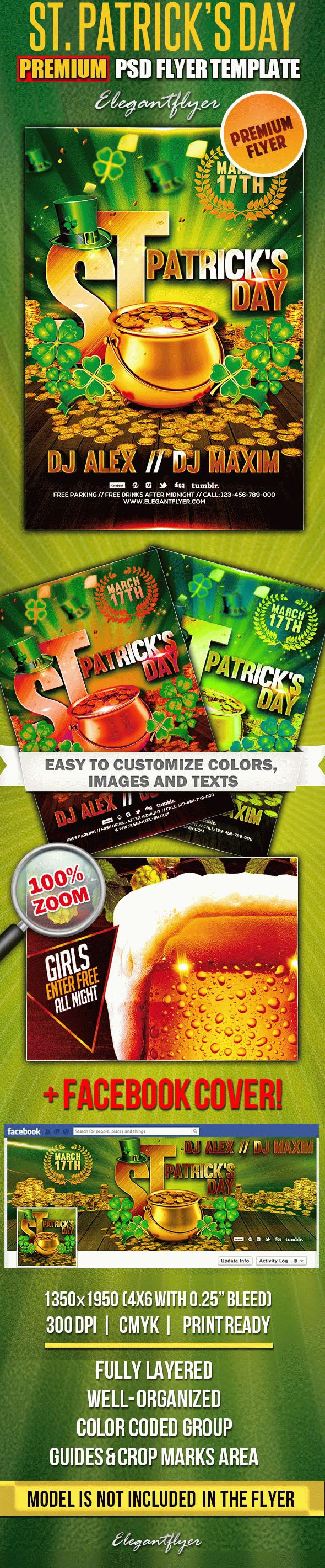 st  patrick u2019s day  u2013 psd flyer templates  u2013 by elegantflyer