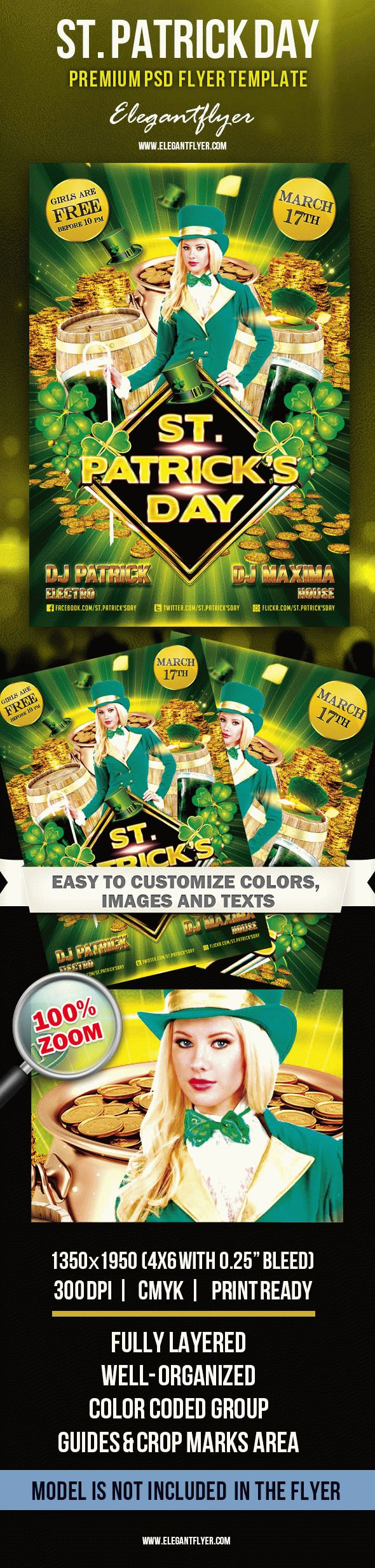 St. Patrick's Day Vol.2 – Premium Club flyer PSD Template
