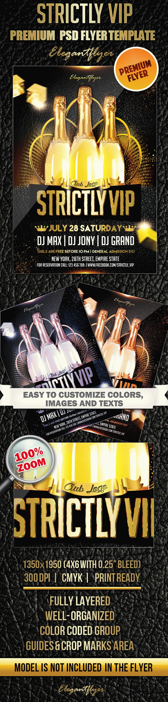 Strictly VIP – Premium Club flyer PSD Template