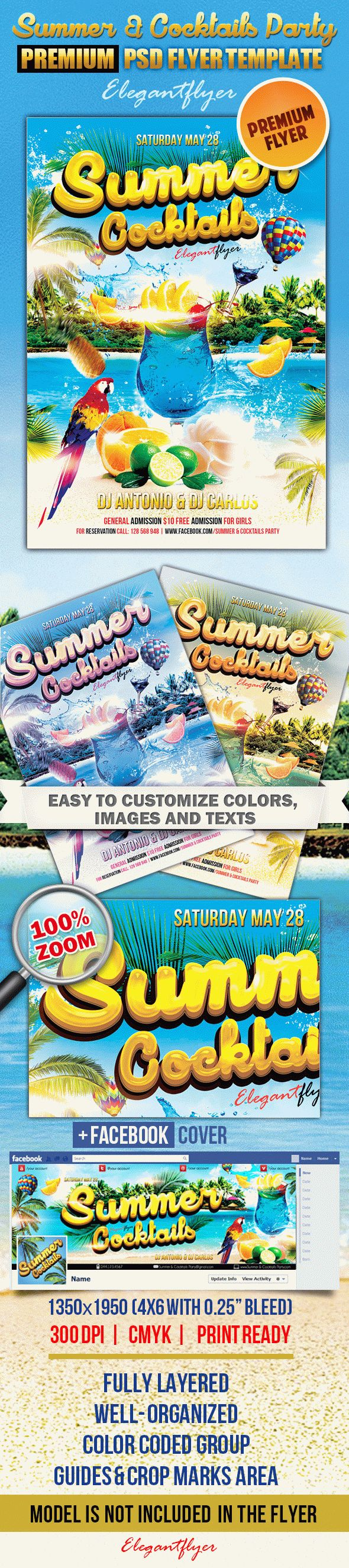 Summer Cocktails Party – Flyer PSD Template