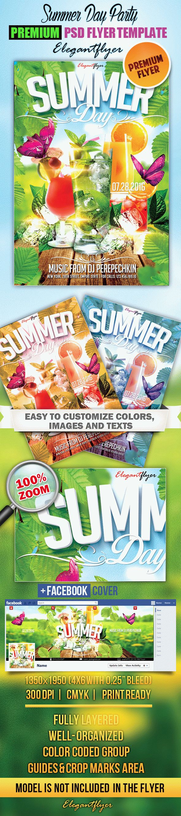 Summer Day Party – Flyer PSD Template