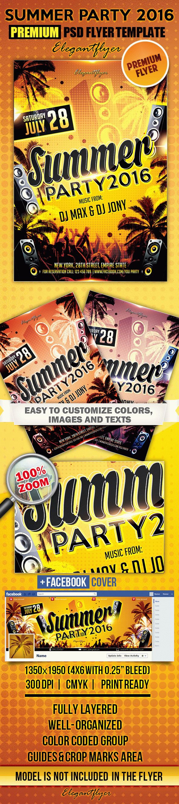 Summer party 2016 – Flyer PSD Template