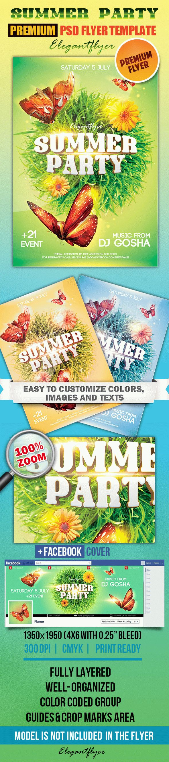 Summer  Party 4 – Flyer PSD Template
