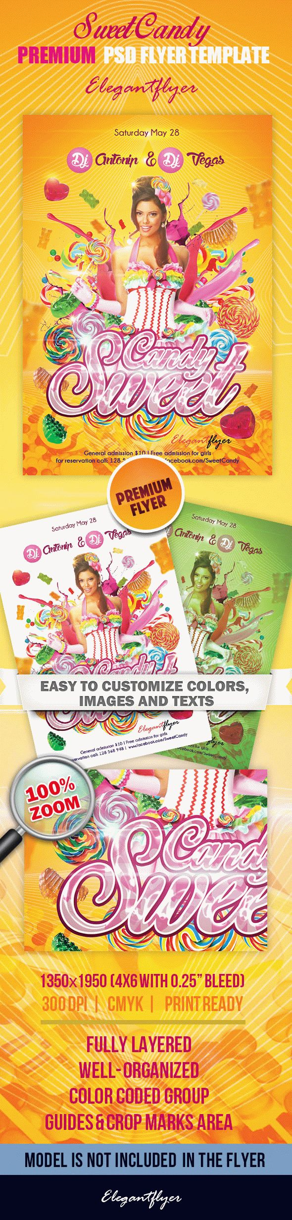 Sweet Candy – Premium PSD Flyer Template