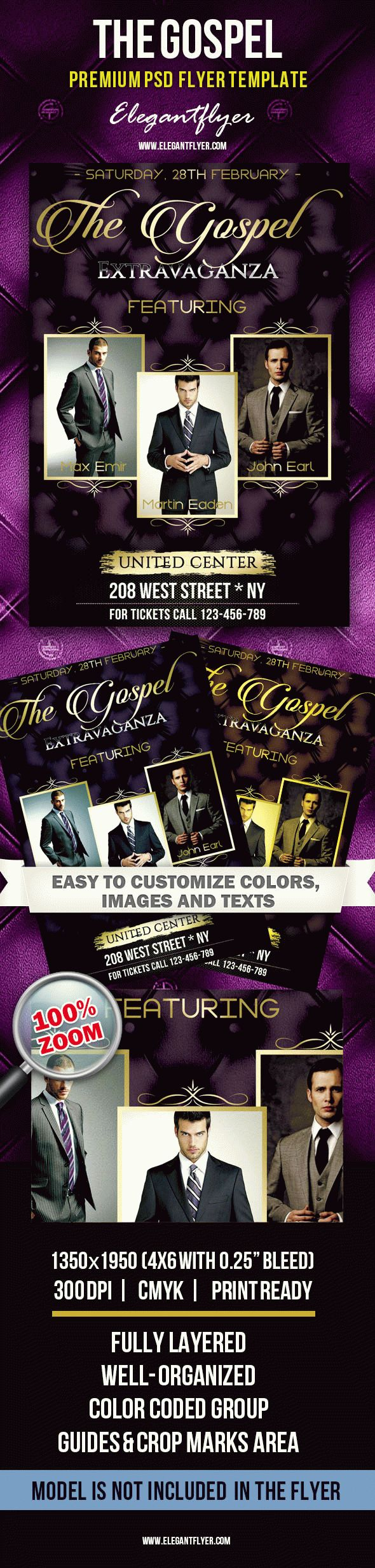 The Gospel – Premium Club flyer PSD Template