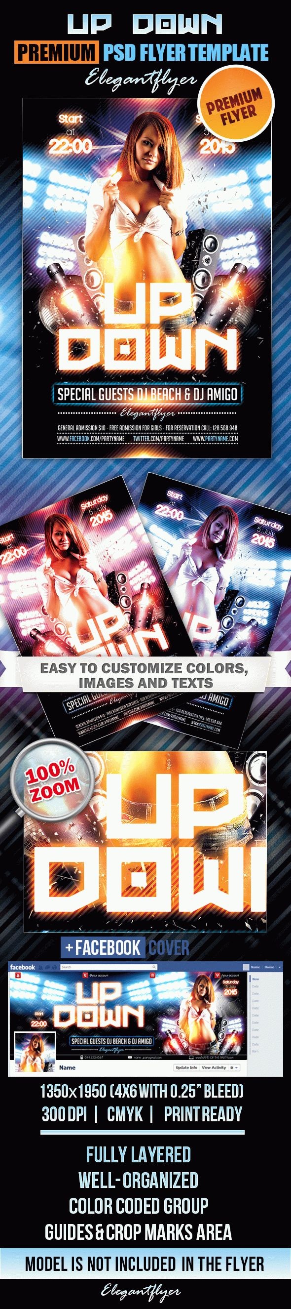Up Down Party – Flyer PSD Template