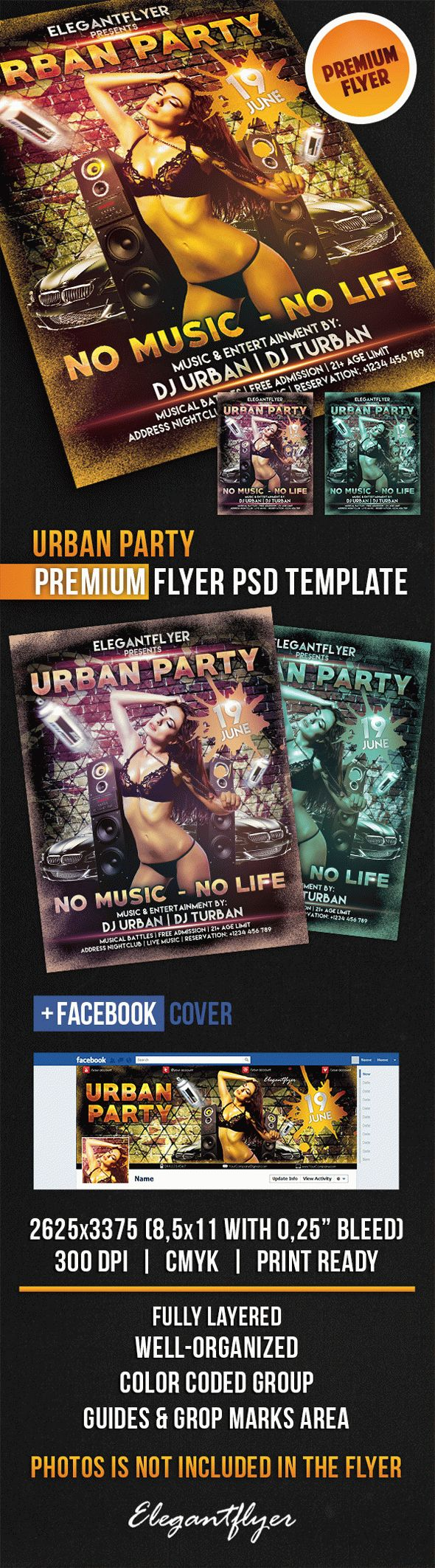 Urban Party Flyer for Printable