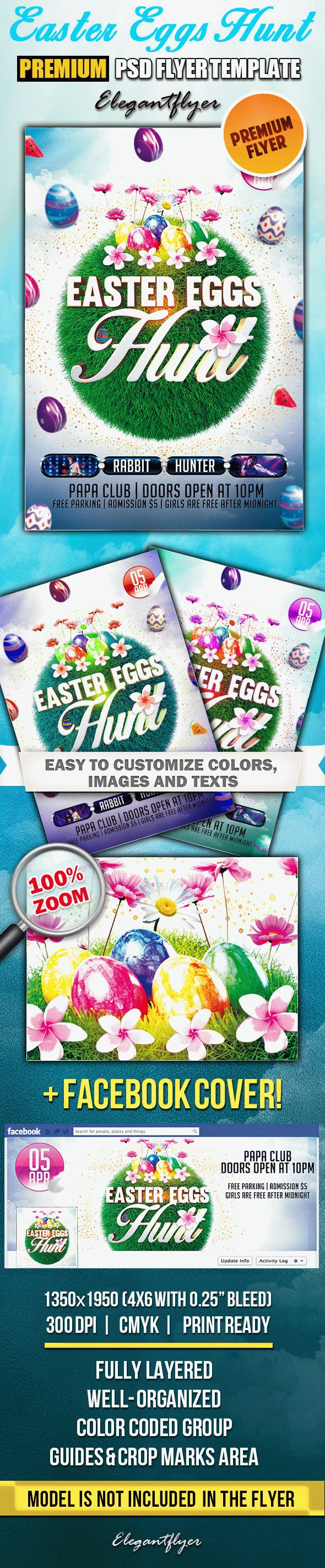 Versatile Easter – PSD Flyer Templates + Facebook Cover