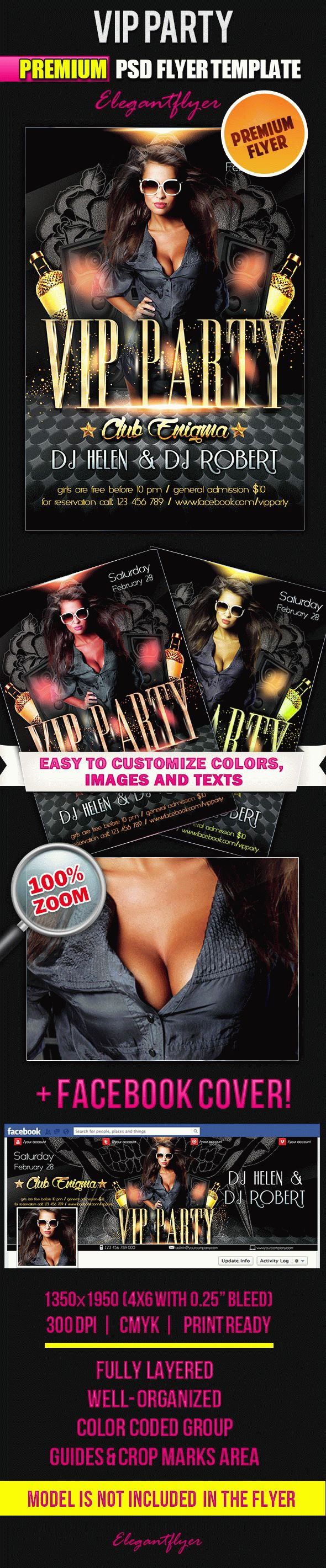 Flyer Template For Vip Party