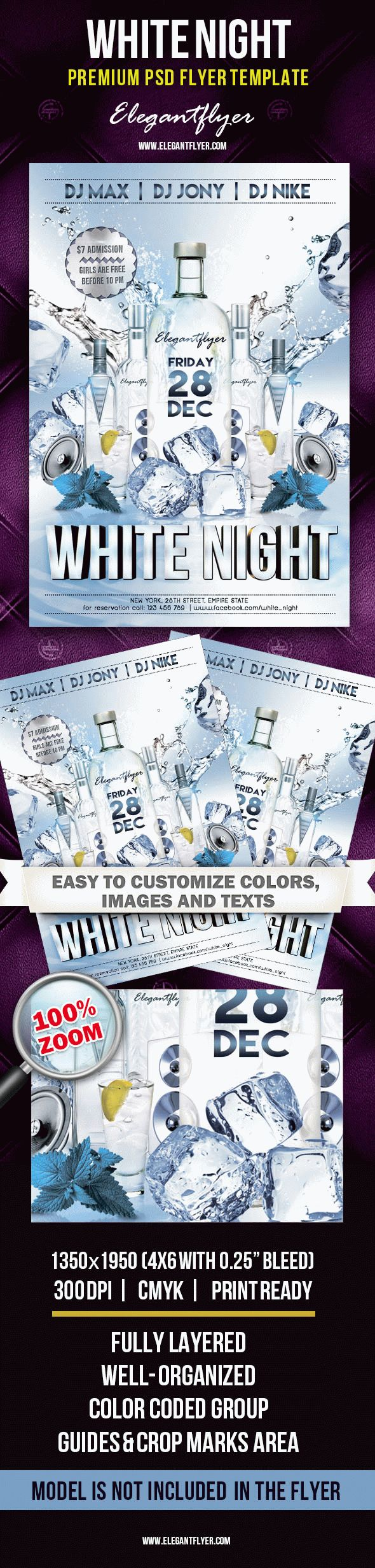 White Night – Premium Club flyer PSD Template