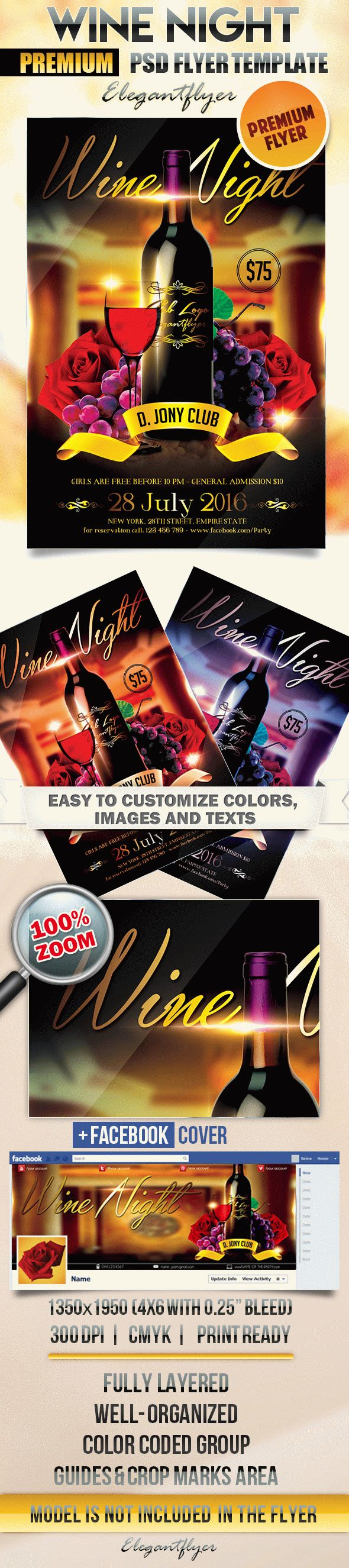 Wine night flyer psd template by elegantflyer wine night flyer psd template maxwellsz