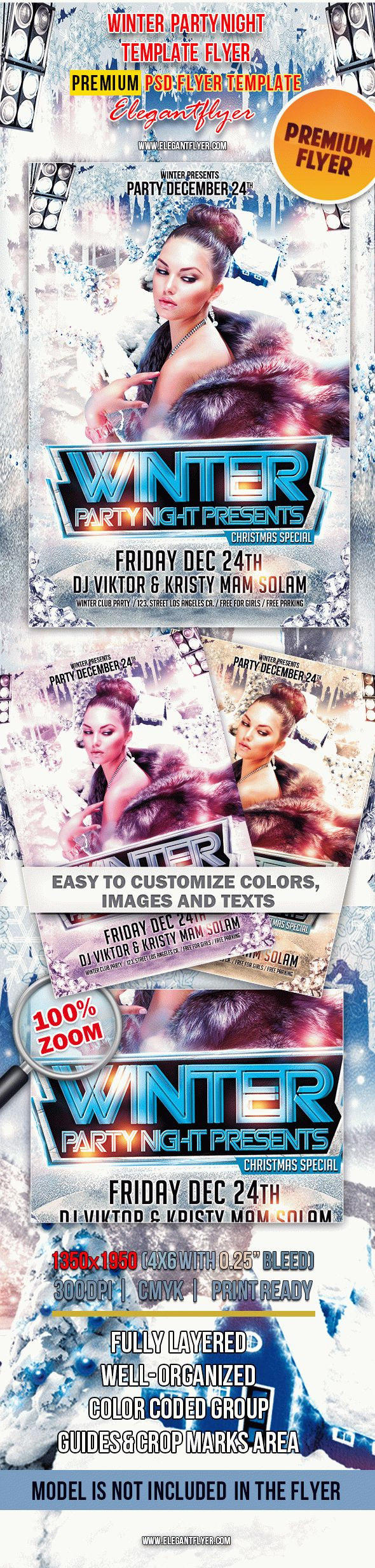 Winter Party Club Flyer in PSD