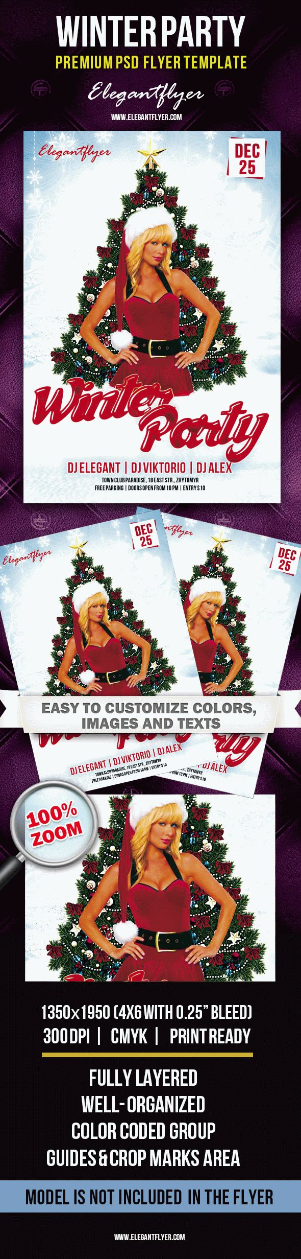 Winter Party – Premium Club flyer PSD Template