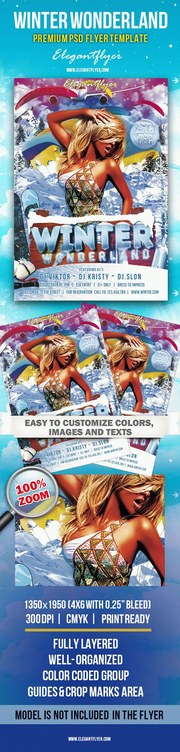 Winter Wonderland – Premium Club flyer PSD Template