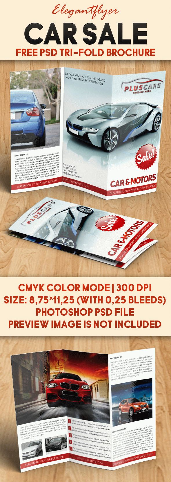 Car Sale U2013 Free Brochure PSD Template  Car For Sale Flyer