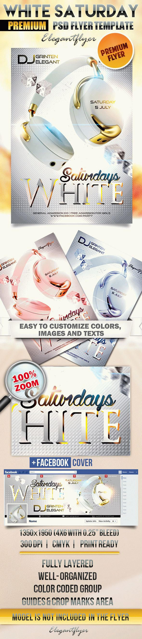 White Saturday – Flyer PSD Template + Facebook Cover