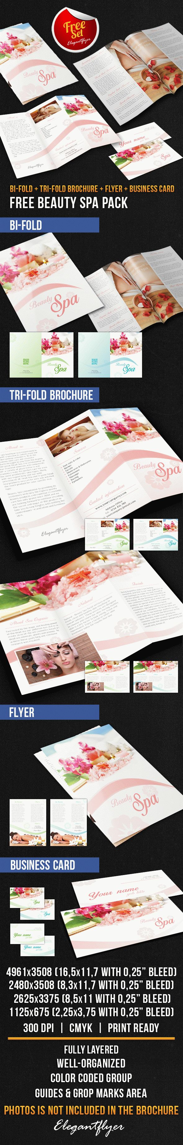 Beauty spa brochure pack free psd template by elegantflyer for Spa brochure templates free