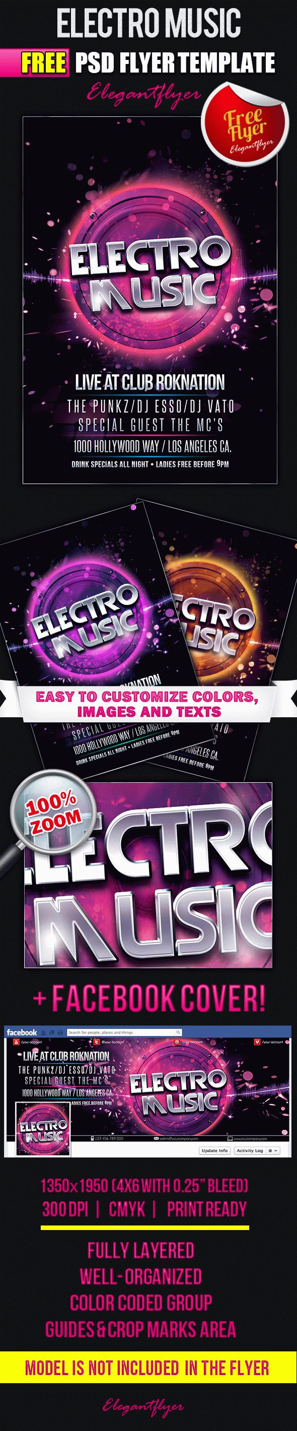 Electro Dance Music Poster